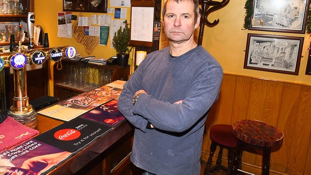 The Black Boy pub Landlord Mark Eames is furious after thieves stole his charity collection pot. Pic